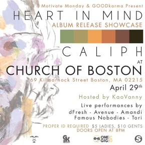 [CONCERT]: Caliph Heart In Mind Album Release Showcase (Church of Boston)