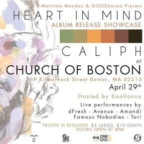 [CONCERT]: Caliph Heart In Mind Album Release Showcase (Church ofBoston)